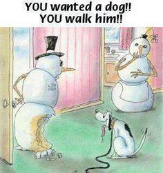 Funny Stuff, walk the dog.