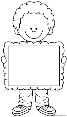 Quilt label for kids? Borders And Frames, Writing Paper, Colouring Pages, Pre School, Preschool Activities, Preschool Pictures, Classroom Decor, Crafts For Kids, Clip Art