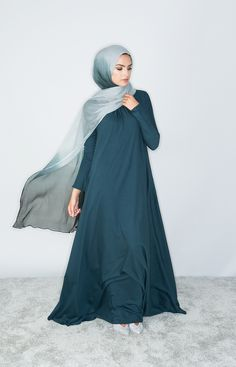 Aab UK Mulberry Abaya Teal : Standard view