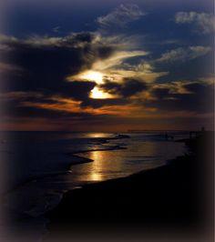 Sunset on Ocean Isle Beach NC