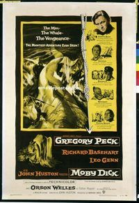 MOBY DICK starring Gregory Peck--great performance as Captain Ahab.