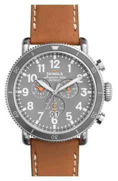 14d003c1556 Shinola  The Runwell  Chronograph Leather Strap Watch