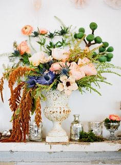 Flower Arrangements by Hatch Creative Studios.  If only my flowers looked like this every time I put them in a vase...