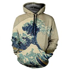 The Great Wave Hoodie by Yo Vogue Clothing - This beautiful hoodie is made using an extremely soft garment and HD Photographic Printing Technology. The fine mixture of polyester and cotton allow us to print high definition images and create unique, fresh and innovative products. Just $64.95 on yovogueclothing.com Stand out from the crowd - Yo Vogue Clothing!