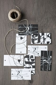 Gift tags - black and withe
