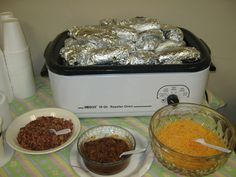 Baked potato Bar to go with the soups