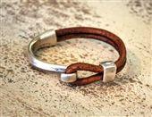 Men's Artisan Hook Bracelet - Natural Brown