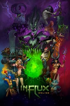 wildstaronline:  Throwback Thursday… how about an oldie from when the game was being developed as Influx. Circa Pre-Wildstar.  An old poster I did for Carbine.  Hellz yeah!!!