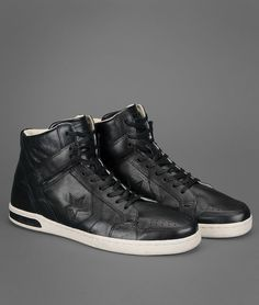 Leather Weapon High-Top | John Varvatos Official Site: Shop Online