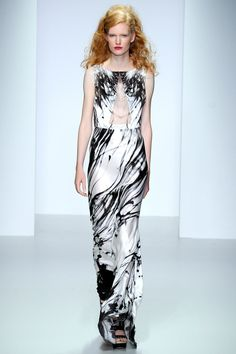 LOVE this fabric/print and style. Feels like the ink is just dripping down the dress. Maria Grachvogel Spring 2014 Ready-to-Wear Collection Slideshow on Style.com