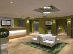 Ideas de #Hotel, estilo #Moderno color  #Marron,  #Verde,  #Blanco, diseñado por Julia Design  #CajonDeIdeas