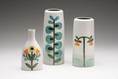 Vases designed by Heather Braun-Dahl from Dahlhaus Ceramics, Vancouver