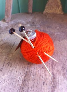 The Knitter's Christmas Ornament - Orange on Etsy, $8.00 Ornament Crafts, Handmade Ornaments, Handmade Gifts, Christmas Crafts, Christmas Decorations, Christmas Ornaments, Crochet Needles, Amber, Special Occasion