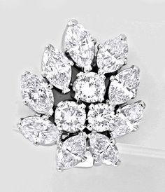 Foto 2, Einmalige Diamantohrringe 5,73ct Handarbeit Schmuck Neu, S8623