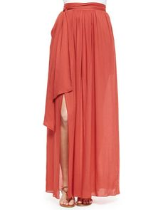 Tie-Waist Maxi Skirt by DKNY at Neiman Marcus.