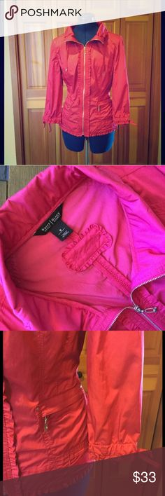 WHBM Taffeta Pink Jacket Excellent condition zip up jacket from White House Bkack Market. Bundle to save White House Black Market Jackets & Coats