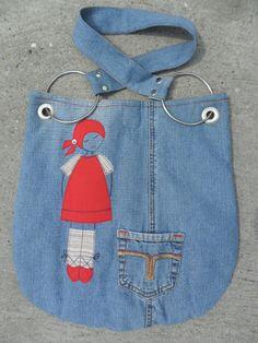 farmer táska kislánnyal Recycle Jeans, Recycled Denim, My Jeans, Farmer, Recycling, Fashion, Moda, Fashion Styles, Farmers
