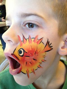 Blowfish - Face Painting by Jennifer Van Dyke
