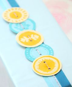 Paper Button Embellishments!