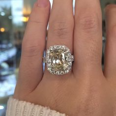 3 carat cushion cut engagement ring by Henri Daussi at Diamonds by Raymond Lee