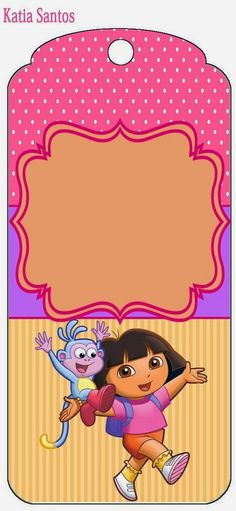 Dora the Explorer Free Printable Candy Bar Labels and Images.
