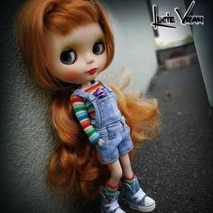 Blythe clothes jeans overall Top leg warmers