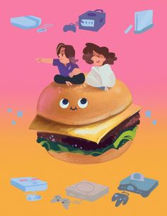 i heard about the game grumps third anniversary art book today so i decided to whip something up real quick! burgie, away!!!
