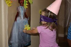 Pin the crown on the princess :) but maybe I could use a picture of the birthday girl in her princess dress.