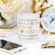 Famous Bible Couples 11oz Mug - JW Gift - jw.org - Jehovah's Witness - JW Pioneer Gift - Custom Wedding Print - Custom Anniversary Gift by GoldAndSeal on Etsy https://www.etsy.com/listing/267852391/famous-bible-couples-11oz-mug-jw-gift