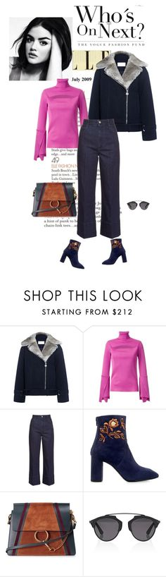 """""""#lookoftheday"""" by ketp ❤ liked on Polyvore featuring Carven, G.V.G.V., STELLA McCARTNEY, Eugenia Kim, Chloé, Christian Dior, StreetStyle and lookoftheday"""