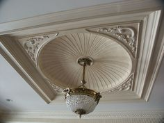 Plaster Mouldings by Hyde Park (Ceiling Systems, Centerpieces, Crown Mouldings) - Crown Custom Homes Drawing Room Ceiling Design, House Ceiling Design, Ceiling Design Living Room, Cornices Ceiling, Roof Ceiling, Ceiling Tiles, Balcony Railing Design, Roof Design, Plaster Cornice