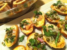 Bone marrow crostini, they're rather tasty. Give it a try.