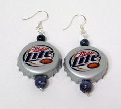 Redneck Woman Earrings Recycled Bottle Caps by BrigaBauble on Etsy, $18.00