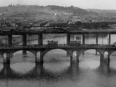 Bridges over the River Usk in Newport, early 1900s