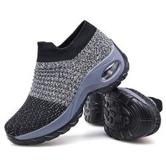 Slow Man Women's Walking Shoes Sock Sneakers - Mesh Slip On Air Cushion Lady Girls Modern Jazz Dance Easy Shoes Platform Loafers Tap Shoes, Me Too Shoes, Dance Shoes, Wedge Shoes, Women's Shoes, Royal Ballet, Body Painting, Turf Toe, Stylish Walking Shoes