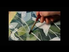 Watercolor painting - Negative painting technique - YouTube