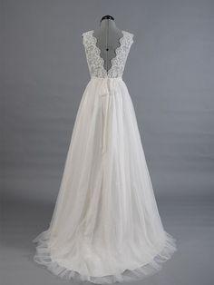 Fairytale Wedding Dress,Princess Wedding Dress,Flowy Wedding Dress,Elegant Wedding Dress,WS044
