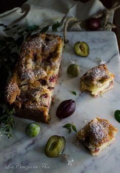 streusel, ciruelas, tarta, merienda, postre, brunch, fruta de temporada, otoño, crumble