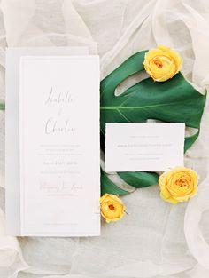 simple wedding invitations - photo by D'Arcy Benincosa Photography http://ruffledblog.com/minimalist-sand-dunes-wedding-inspiration