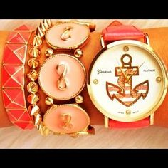 Accessories - Gorgeous Pink Anchor Watch ❤️