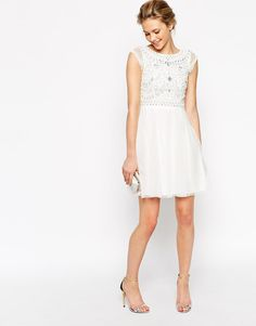 Frock and Frill | Frock and Frill Embellished Top Skater Dress at ASOS