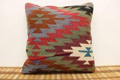 Decorative Kilim Pillow 16 x 16 Throw Pillow by kilimwarehouse, $46.00