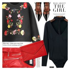 """""""It girl"""" by vanjazivadinovic ❤ liked on Polyvore featuring Acne Studios, Graphic Image, RED Valentino, Kershaw, polyvoreeditorial and zaful"""