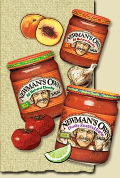 PINEAPPLE!!!!!!!Newman's Own Mild Salsa.  Two tbsp is 10 cal  and 65 mg of salt! Quite the sodium bargain! If you compare it to say 2 tbsp of another one (I used Pace) it also is10 calories but has 230 mg of sodium. Wow! You just saved 165 mg of salt for the same calories!