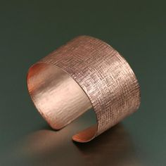 Striking Copper Linen Cuff Bracelet  Highlighted by #JohnSBrana #Cuffs #CopperJewelry #Copper http://www.johnsbrana.com/lookbook/copper-jewelry/copper-linen-cuff-bracelet/