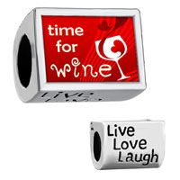 """Words """" Live Love Laugh""""  With Glass Red Heart And Time For Wine..."""