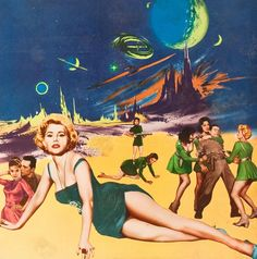 """humanoidhistory: """"R. Zsa Zsa Gabor Among her many roles, she starred as a sci-fi siren in Queen of Outer Space. Science Fiction Art, Pulp Fiction, Space Girl, Space Age, Sci Fi Films, Retro Futuristic, Illustrations, Pulp Art, Sci Fi Fantasy"""