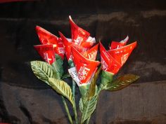 Condom Rose Bouquet for Valentines Day - you could also use white condoms & red tie
