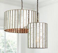 Dining Lighting, Kitchen Lighting, Pendant Lighting, Salon Lighting, Drum Chandelier, Bathroom Lighting, Hanging Light Fixtures, Hanging Lights, Mercury Glass Pendant Light
