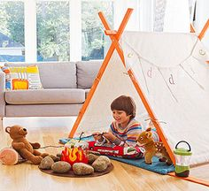 Whether you're turning over a whole room to rumpus or just carving out a corner for playtime, these four strategies will help you set up a space that fosters creativity and generates a ton of fun.